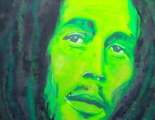 Painting Bob Marley