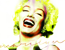 Digital Painting Marilyn Monroe